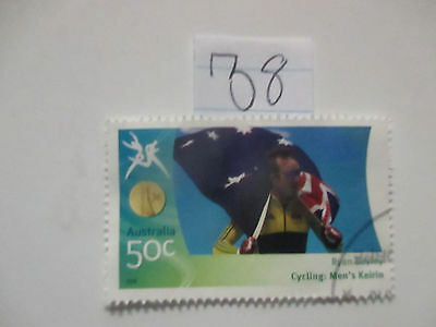 N o -38--2006 COMMONWEALTH  GAMES  -USED  50c  VALUES  ---A1  ORDER