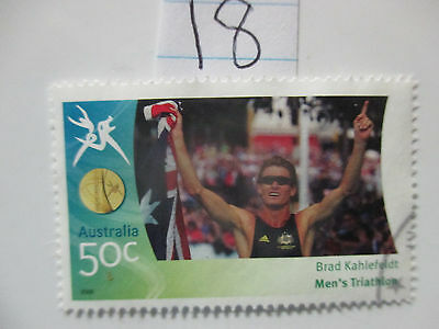 N o -18--2006 COMMONWEALTH  GAMES  -USED  50c  VALUES  ---A1  ORDER