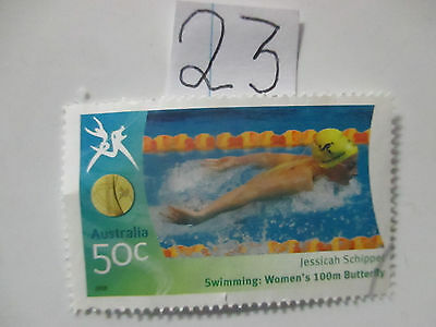 N o -23--2006 COMMONWEALTH  GAMES  -USED  50c  VALUES  ---A1  ORDER