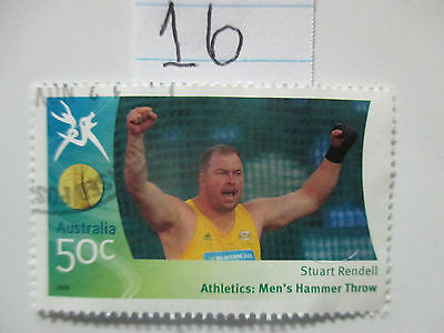 N o --16 --2006 COMMONWEALTH  GAMES  -USED  50c  VALUES  ---A1  ORDER