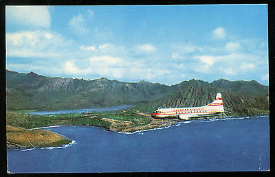 Hawaiian Airlines Convair 340 Photo Postcard 1953