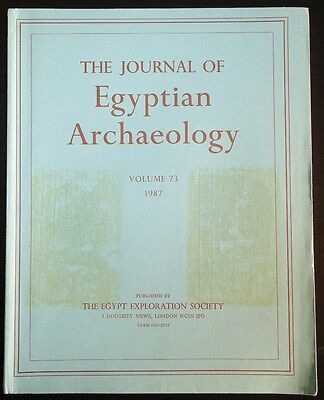 The Journal of Egyptian Archaeology Volume 73 1987 The Egypt Exploration Society
