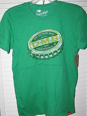 Dave Matthews Band Bottle Cap Logo Shirt Small NEW! Green