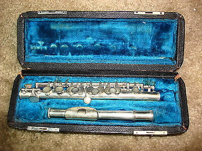C.G. Conn mdl 44P-255400-D-L (1932)  Db - Low Pitch Silverplated Piccolo PROJECT