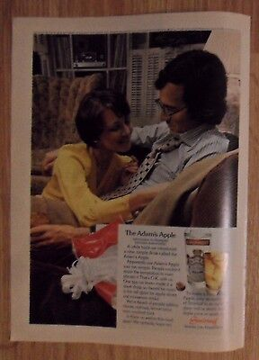 1973 Print Ad Smirnoff Vodka ~ 'Adam's Apple' Smirnoff & Apple Juice Couple Sofa