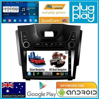 !Android Stereo For Holden Colorado Colorado 7 MYLINK RG GPS Nav Radio Bluetooth