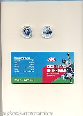 2015 AFL The Ultimate Collection $1.00 Silver proof uncirculated coin #1618
