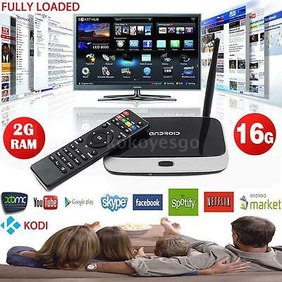 CS918T 1080P Android 4.4 Quad Core 2G 16G Smart TV Box WiFi Bluetooth H.265 DLNA