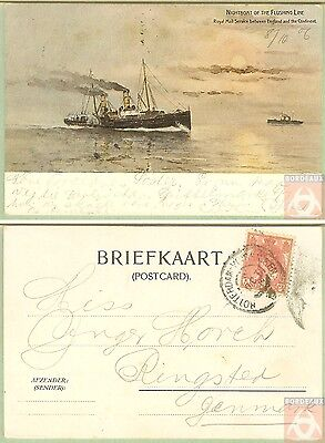 Pays Bas - PAQUEBOT - ROTTERDAM-VLISSINGEN V - Posted at Sea 1906