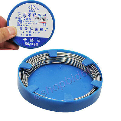 2017 NEW Dental Stainless Steel Wire Orthodontic Surgical Instruments 1.0mm CE