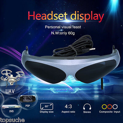 Virtual Reality 2D Occhiali VR Headset Glasses Video FPV Multicopter Drone Game