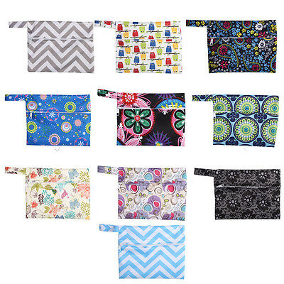 Sanitary Pads Reusable Waterproof Wet Bag Pouch For Baby Cloth Diaper Nappy TP