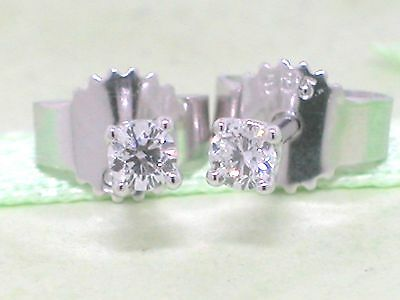 Blow out!Diamant Brillant Ohrstecker 585 Weißgold 14Kt Gold 0,10ct Wesselton Si