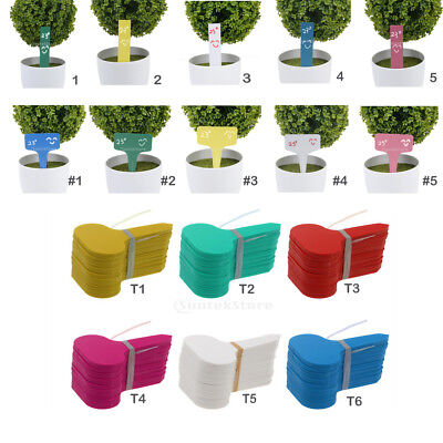 100x Plastic Plant Shrubs Tree Seed Labels Pot Markers Garden Stake Nursery Tags