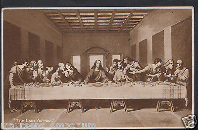 "Artist Postcard - ""The Last Supper"" From Painting By L.Da Vinci   BH6555"