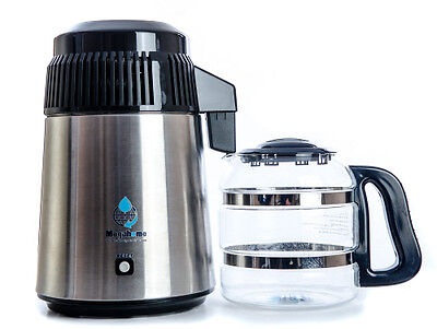 Megahome Deluxe Black Water Distiller with Glass Jug