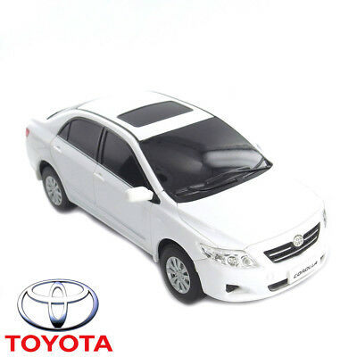 1:24 Toyota Corolla White RC Radio Remote Control Toy Car Official