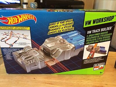 Hot Wheels Workshop Track Builder 2- Speed Power Booster New And Sealed