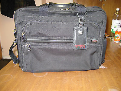 Gently used Tumi laptop briefcase 26130 ballistic nylon