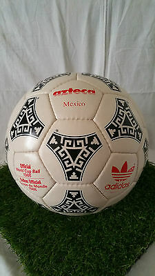 Adidas Azteca Mexico Match Ball Official 1986 Mexico Made In France Red  Letters