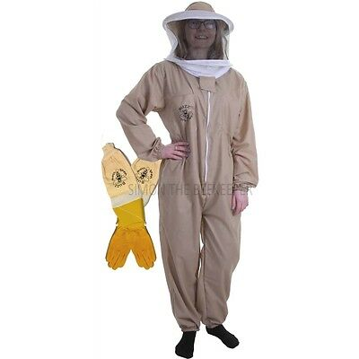 [DEUTSCH] BUZZ BASIC Khaki Beekeeping Suit with Round Veil and Ventilated Gloves