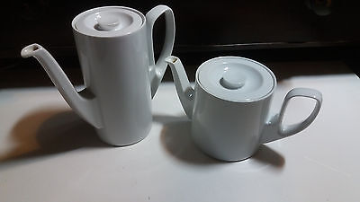 RARE Vintage Rosenthal tea and coffee pot stainless with thomas case VERY NICE