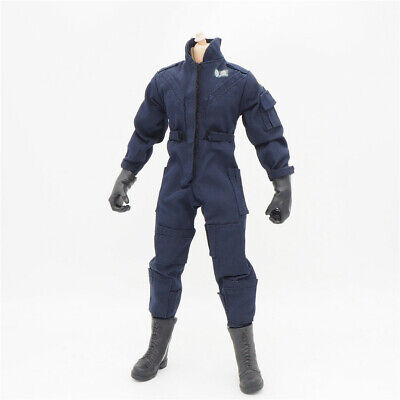1/6 Scale Uniforms Coveralls Suit Jacket Nave Fit Hot B005 Body