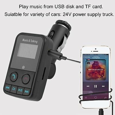 SO-600E Portable Car Wireless Bluetooth V4.0 FM Transmitter & 3.1A Car Charger Z