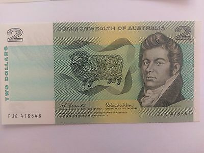 Australia 2 dollar notes PAPER decimal currency Coombs Wilson UNC condition