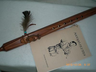 Flute, Native American, Navajo made, American Bison  Effigy, Signed