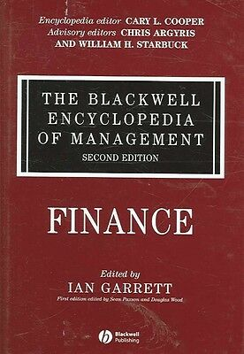The Blackwell Encyclopedia of Management, Finance by Ian Garrett Hardcover Book