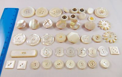 Collection Vintage Natural Shell Mother of Pearl MOP Decorative Buttons
