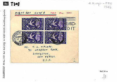 T303 1946 GB Devon Plymouth First Day Cover