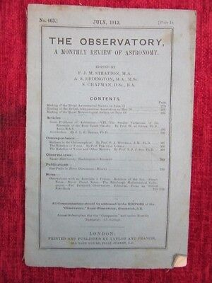 1913 The Observatory Monthly Review July Science Vintage Victorian us4