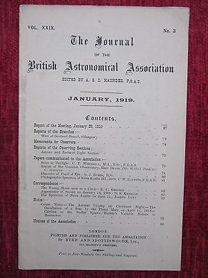 1919 The Journal Of The British Astronomical Association Science January us4