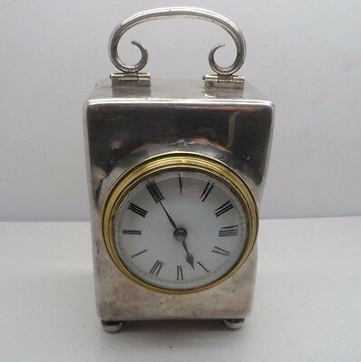 """6"""" Victorian Solid Silver Carriage Clock London 1875 No Reserve"""