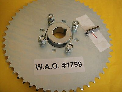 "Go Cart Sprocket And Hub For 1"" Axle ,54 Tooth For #40,41 &420 Chain  Wao:1799"