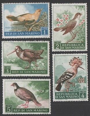 San Marino stamps. 1960 Birds. Low Values. MLH