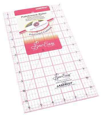 Sew Easy patchwork quilting ruler 6.5 x 12 inches template ruler NL4180