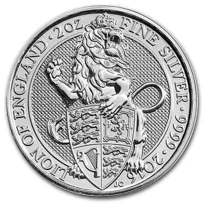 2016 Great Britain 2 oz Silver Queen's Beasts The Lion - SKU #101626
