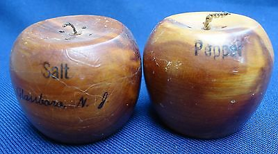 Vintage Wooden Apples with Metal Stoppers Glassboro New Jersey