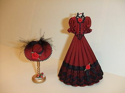1/12th scale miniature Dress and Hat.