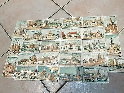 Lot 26 chromos chocolats guerin boutron exposition universelle 1900 projets
