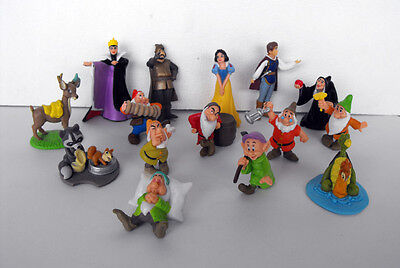 RARE Disney Snow White complete set of 15 pvc figures Cake Toppers Netherlands