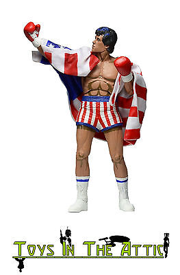 Neca 7-Inch Rocky Scale Action Figure with Classic Video Game Appearance