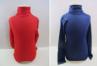 vintage childrens polo neck jumpers ski layer skin ages 5 and 8