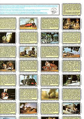 Colin Garratts Last Steam Locomotives Of The World Matchbox Labels Poster New
