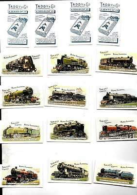 Full Set Of 25  Taddy & Co Railway Locomotives Mint