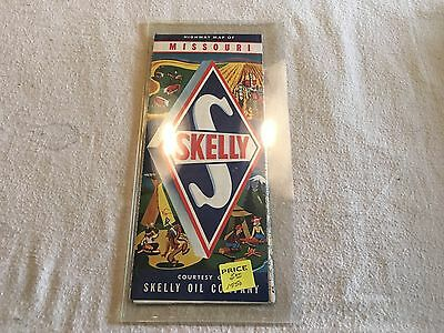 """1960 Skelly Oil Company Missouri Road Highway Map 26 3/4"""" X 18"""" Unfolded"""