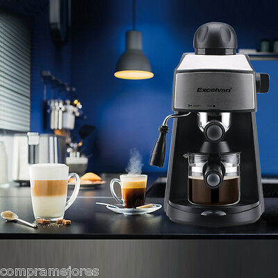 Excelvan 4-Cup Home Office Coffee Machine Cappuccino Steam Espresso Drinks Maker